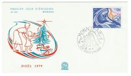 Monaco // FDC // 1979 //  Noël 1979 - FDC