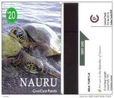 Nauru-turtle Number-(1)-$20-(ct919)-used Card=2 Card Prepiad Free - Nauru