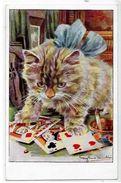 CPA Jeu De Cartes Carte à Jouer Playing Cards écrite Chat Cat - Carte Da Gioco