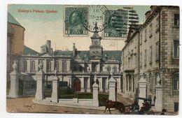Canada--QUEBEC--1912- Bishop's Palace (animée,attelage)-cachets Québec Et CHAMPAGNE ST HILAIRE-86 (France) - Québec - La Cité