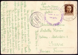 ITALIA - CROATIA - WW2 - COLONIA INTERNATI GUERRA BONIFICA Di PISTICEI Prov. MATERA To FIUME  SUSSAK - 29. IX 1942. - Occupation 2ème Guerre Mond. (Italie)