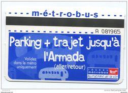 Carte Ticket De Transport Tramway De Rouen Métrobus Spécial Armada - Tram Ticket - Seine-Maritime - Normandie - Tramways