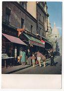 PARIS 18°--1960--Place Du Tertre à Montmartre (animée)--Photographe MONIER--cachet  Croix Rouge......à Saisir - Arrondissement: 18