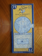 Ancienne Carte Michelin - Clermont Ferrand - Lyon N° 73 1952 - Carte Stradali