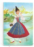 Carte Brodée-Venezia Tridentina- Costume Régional -(C.502) - Borduurwerk