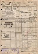 A6329 - Alte Rechnung - Frachtbrief Nordhausen - Deutsche Reichsbahn - Glückauf Oberfrohna Karl Marx Stadt 1967 - Deutschland