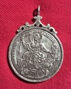 MEDIEVAL SILVER PENDANT, WEARABLE XVI C.A.D., 22.34 Gr., 57 Mm. (182) - Archéologie