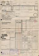 A6331 - Alte Rechnung - Frachtbrief Gera - Deutsche Reichsbahn - Bad Kösen Oberfrohna Karl Marx Stadt 1966 - Deutschland