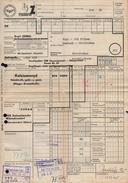 A6332 - Alte Rechnung - Frachtbrief  - Deutsche Reichsbahn - Wünschendorf Oberfrohna Karl Marx Stadt 1968 - Germany