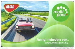 GAS PETROL FILLING STATION * FUELING * CAR * OTP BANK BAUMAX DOCKYARD CUSTOMER LOYALTY CARD * MOL Multipont 2 * Hungary - Olie
