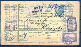1921 , HUNGRIA , BOLETÍN DE EXPEDICION , DE BUDAPEST A KISVARDA . - Hungría
