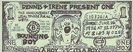 Hand Made Dollar Bill Birth Announcement (blank Reverse) - Birth & Baptism