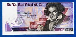 De La Rue Giori S.A. Varinota Beethoven - Louisenthal Purple Type - Specimen Test Note Au~Unc - Specimen