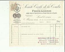 Facture De Sté CIVILE DE LA COUDRE Fromagerie_Trappistines Notre Dame La Trappe A LAVAL Adres A Mr BIETRY NEVERS En 1950 - Alimentos