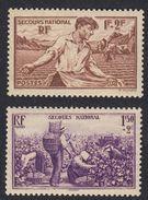 FRANCE Francia Frankreich - 1940 - Lotto Due Valori Nuovi Con Gomma Integra, Yvert 467/468. - Nuovi