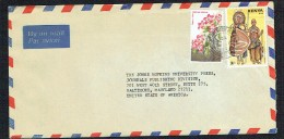 Air Letters To USA  2/- Flowers, 3/- 1987 Ceremonial Costumes - Kenya (1963-...)