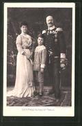 AK S.K.H. Prinz Alfons Von Bayern Mit Gattin Louise Victoire D'Orléans & Sohn Joseph Clemens - Royal Families