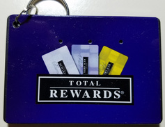 Harrah's Total Rewards WinFinder - 3.25 X 2.25 X 0.25 Inch Plastic Box With Small Keyring - Casino Cards