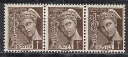 FRANCE 1938 - BANDE DE 3 TP Y.T. N° 404 - NEUFS** - /B33 - Neufs