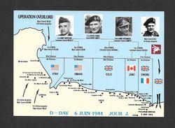 GUERRE 1939-45 - WAR 1939-45 - DÉBARQUEMENT EN NORMANDIE - OPERATION OVERLORD - D- SAY  - JOUR  J - 5 JUIN 1944 - Guerre 1939-45