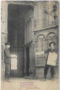Chanson Du Sillon  A  La  Porte De L'Eglise Le Dimanche Matin Marchands De Journaux  CPA 1907 - Marchands Ambulants