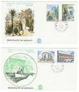 Monaco // FDC // 1980 //  Sites Et Monuments (2 Lettres) - FDC