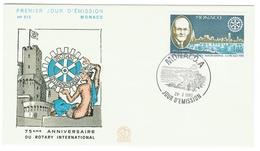 Monaco // FDC // 1980 //  75ème Anniversaire Du Rotary International - FDC