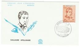 Monaco // FDC // 1980 // Guillaume Apollinaire - FDC