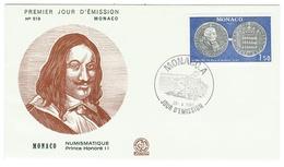 Monaco // FDC // 1980 // Numismatique, Prince Honoré II - FDC