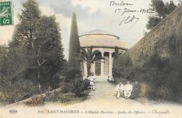 St Saint Mandrier (Var) - L'Hôpital Maritime, Jardin Des Officiers - Carte E.L.D. Colorisée N° 803 - Health