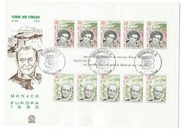 Monaco // FDC // 1980 // Europa 1980 Bloc-feuillet - FDC