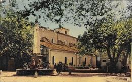 Aups (Var) - L'Eglise, Fontaine, Pyramide - Edition Combier - Carte CIM Colorisée - Aups