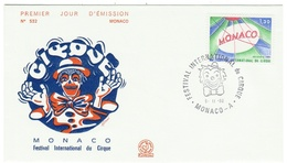 Monaco // FDC // 1980 // Festival International Du Cirque - FDC