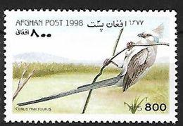 Afghanistan 1998 MNH - Blue-naped Mousebird (Urocolius Macrorus) - Perroquets & Tropicaux