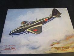 Carte Postale STORMOVIK (URSS) AVION BLINDE D'ATTAQUE EN VOL RASANT - 1939-1945: 2ème Guerre