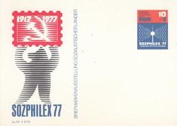 """DP 82**  Briefmarkenausstellung """"SOZPHILEX 77"""" - Briefmarkenasstellung Sozialistischer Länder - [6] Oost-Duitsland"""
