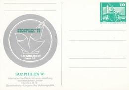 """DP 83a** Internationale Briefmarkenausstellung Sozialistischen Länder """"SOZPHILEX 78"""" - Szombathely-Ungarische Volksrepub - [6] Repubblica Democratica"""