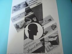 ANCIENNE PUBLICITE CREATION PRECIEUSE  AUGUSTE BONAZ 1929 - Bijoux & Horlogerie