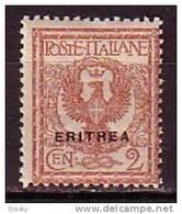 PGL - ITALIAN COLONIES ERITREA SASSONE N°20 ** - Eritrea