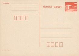 DP 88 I ** Bauwerke Berlin Palast Der Republik - Postkarte - Antowort  10+10 Pf -  Mit Druckvermerk Unet Links - [6] Repubblica Democratica