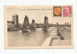 Cp , 85 , Les Sables D'Olonne , Départ Des Thonniers , Voir Timbre Et Oblitération , Ed : Bruel , Voyagée 1947 - Pêche