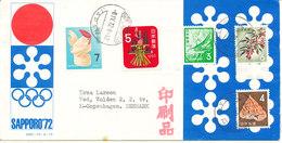 Japan Coca Cola Cover Sent To Denmark Nishimaizuru 8-4-1972 With More Topic Stamps - 1926-89 Kaiser Hirohito (Showa Era)