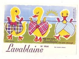 ---- BUVARD ---- LESSIVE  -  LAVABLAINE Le Vrai  300 Fois Lavé - LAVABLAINE  Sainte Marie Les Mines   - Excellent état - Produits Ménagers
