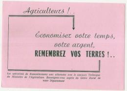 ---- BUVARD ---- AGRICULTEURS Remembrez Vos Terres -économisez Votre Temps   - Excellent état - Farm