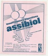 ---- BUVARD ---- Laboratoires Biçcodex PARIS -  Insuffisances Digestives ASSIBIOL   - Excellent état - Chemist's