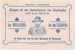 ---- BUVARD ----  Pantouffles LE BOER Les Meilleures Les Plus élégantes TB - Textile & Vestimentaire