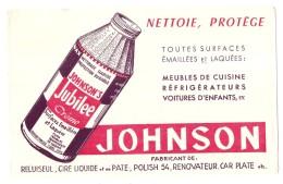 ---- BUVARD ----  Nettoie Protege Polish - Jubilée Johnson - Excellent état - Wash & Clean