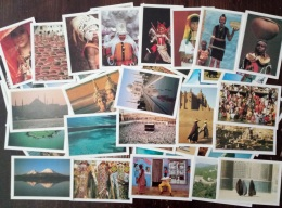 CARTOLINE DAL MONDO  Lotto Blocco Di 114 Card Descrittive De Agostini - Postcards
