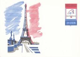 """DP 102 ** Philatelistische Weltausstellung  """"PHILEXFRANCE´89 In Paris - Eiffelturm - [6] Repubblica Democratica"""