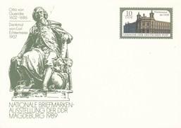 DP 103 **  Nationale Briefmarken - Ausstellung Der DDR Magdeburg 1989  - Denkman Von Otto Von Guericke 1602-1686 - [6] Repubblica Democratica